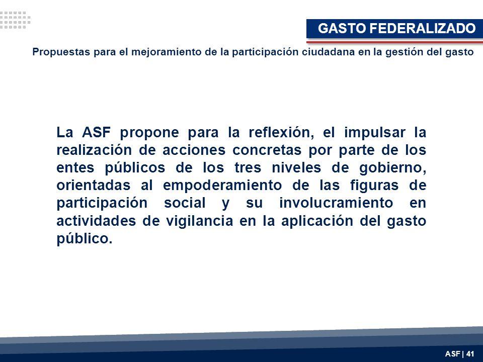 GASTO FEDERALIZADO Propuestas para el mejoramiento de la participación ciudadana en la gestión del gasto.