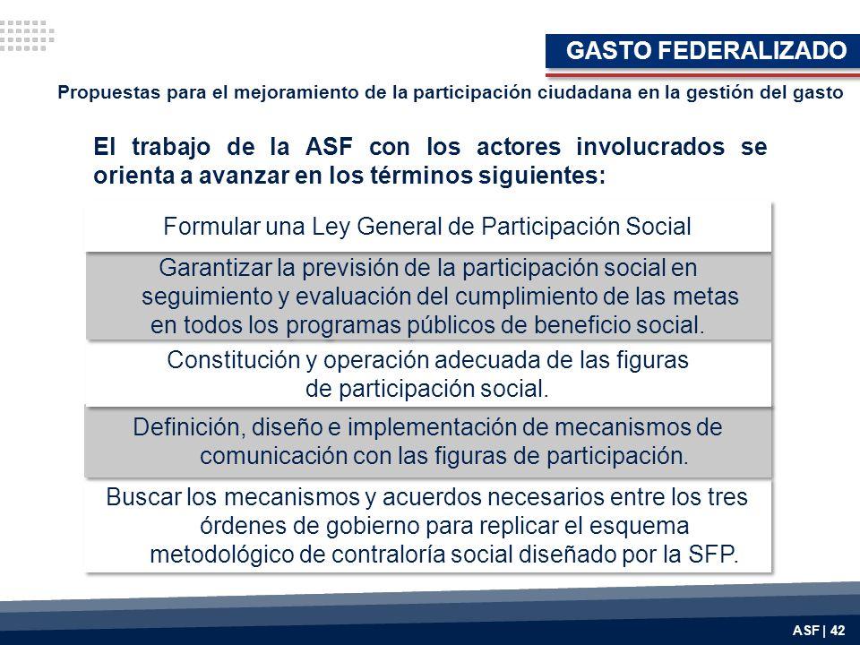 Formular una Ley General de Participación Social