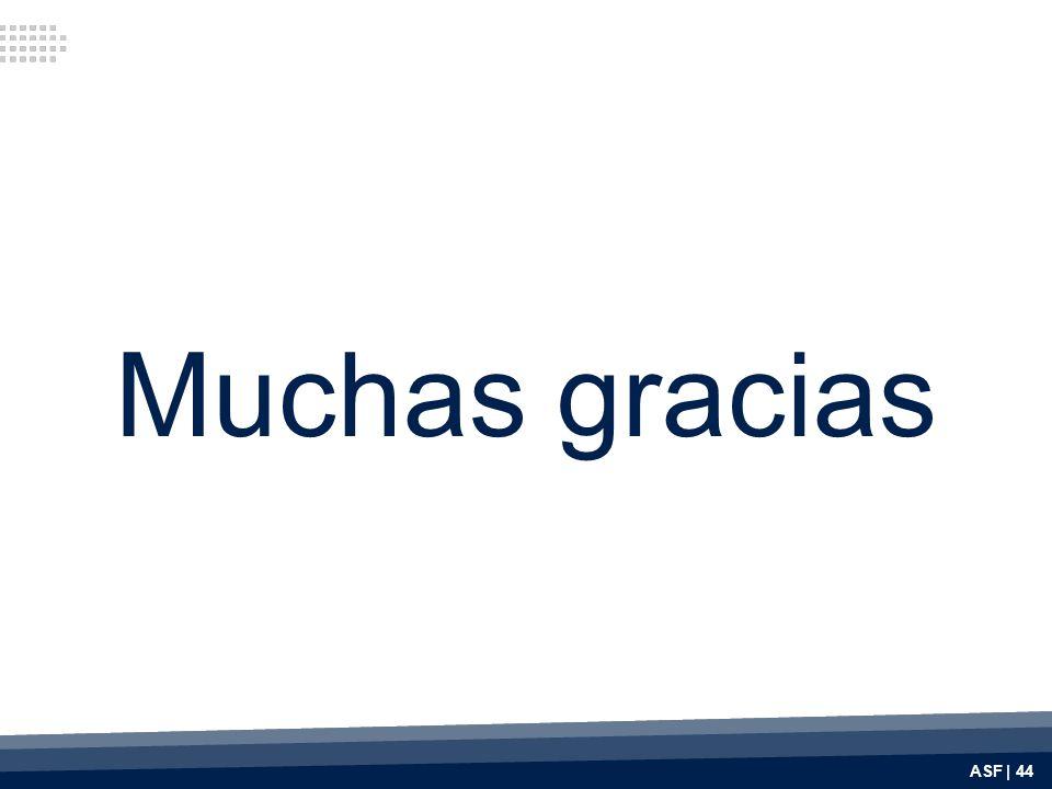 Muchas gracias ASF | 44
