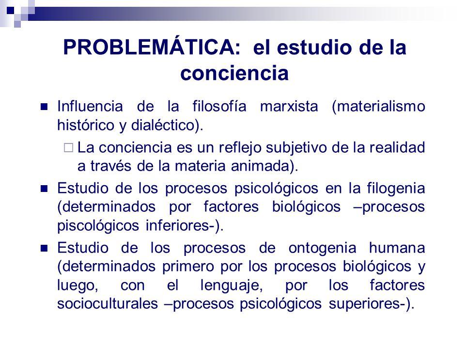 PROBLEMÁTICA: el estudio de la conciencia