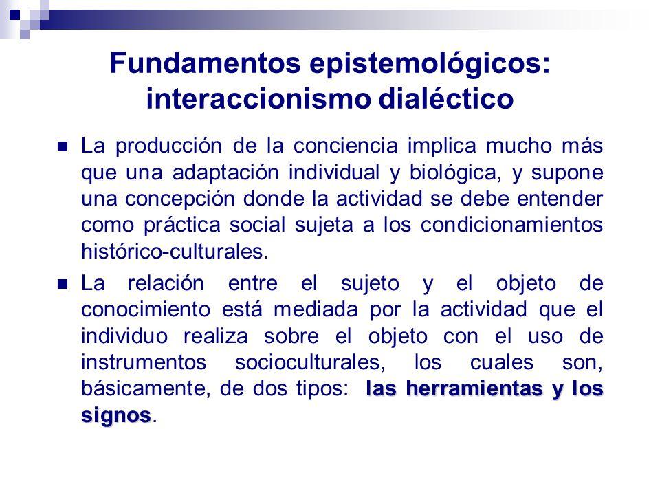 Fundamentos epistemológicos: interaccionismo dialéctico