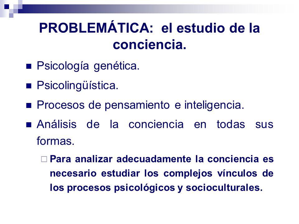 PROBLEMÁTICA: el estudio de la conciencia.