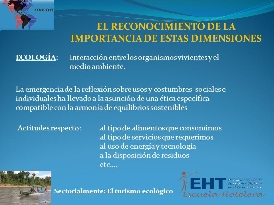 EL RECONOCIMIENTO DE LA IMPORTANCIA DE ESTAS DIMENSIONES