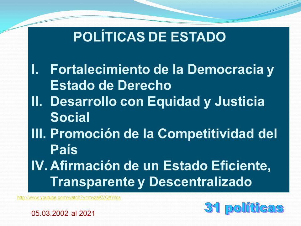 31 políticas POLÍTICAS DE ESTADO