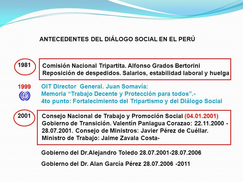 ANTECEDENTES DEL DIÁLOGO SOCIAL EN EL PERÚ