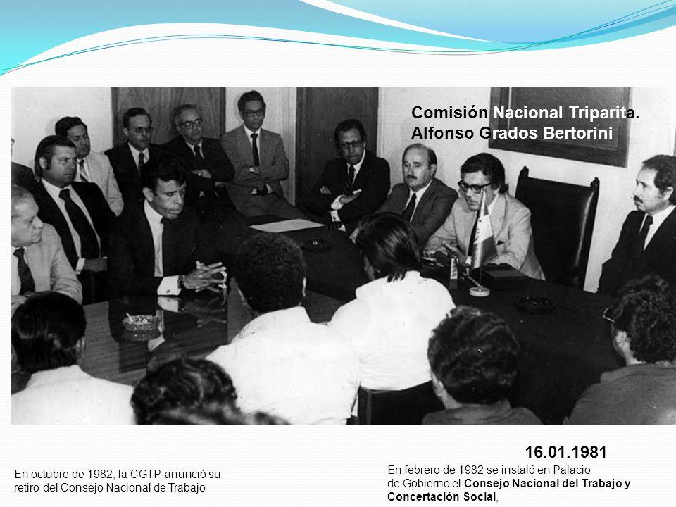 Comisión Nacional Triparita. Alfonso Grados Bertorini