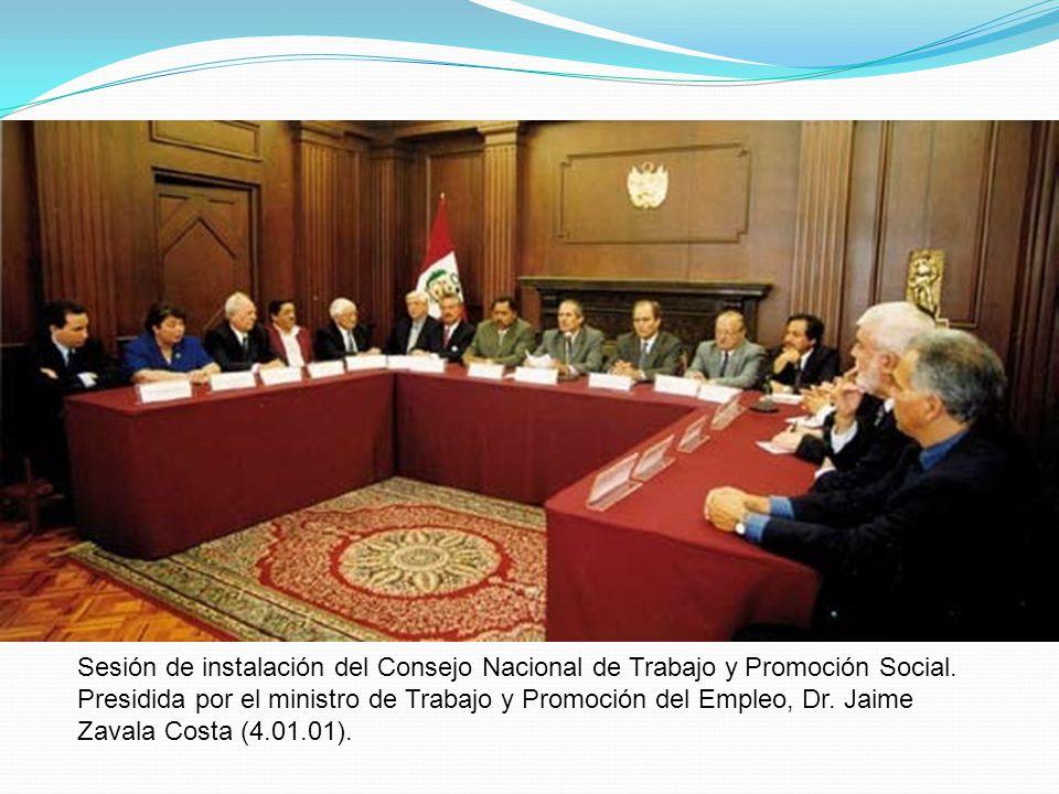 Sesión de instalación del Consejo Nacional de Trabajo y Promoción Social.