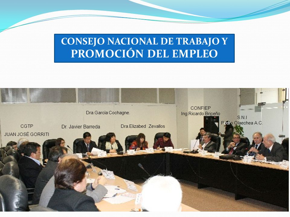 CONSEJO NACIONAL DE TRABAJO Y PROMOCIÓN DEL EMPLEO