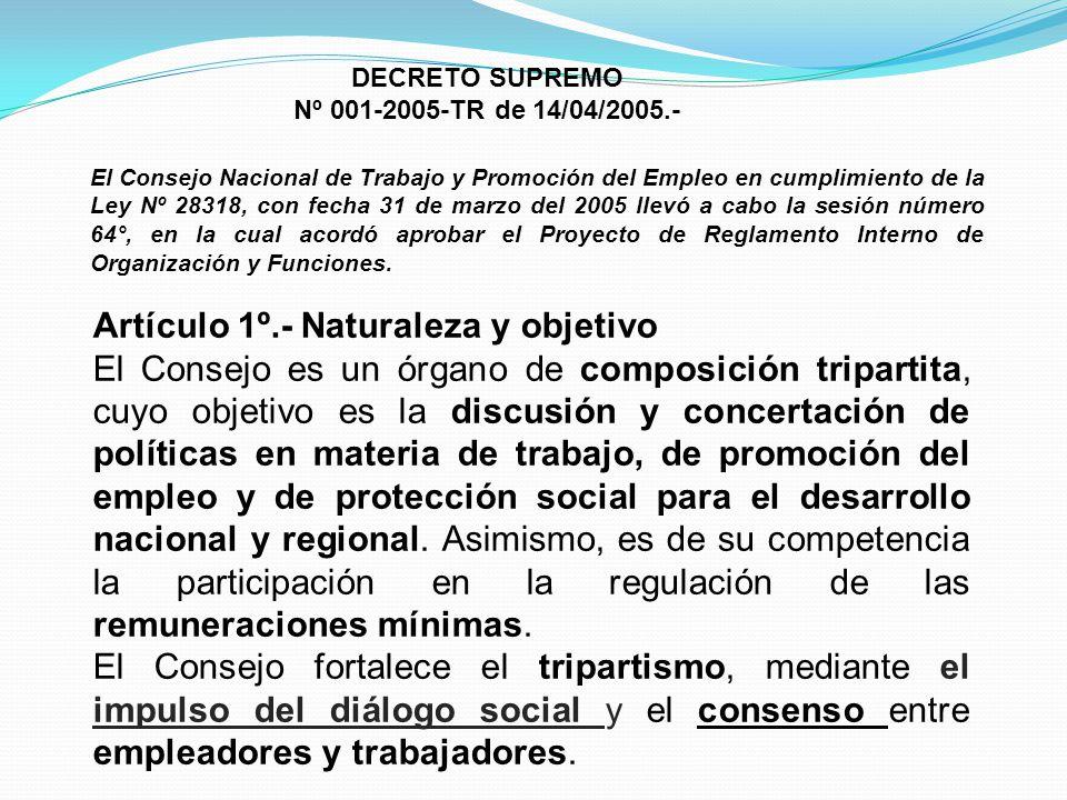 Artículo 1º.- Naturaleza y objetivo