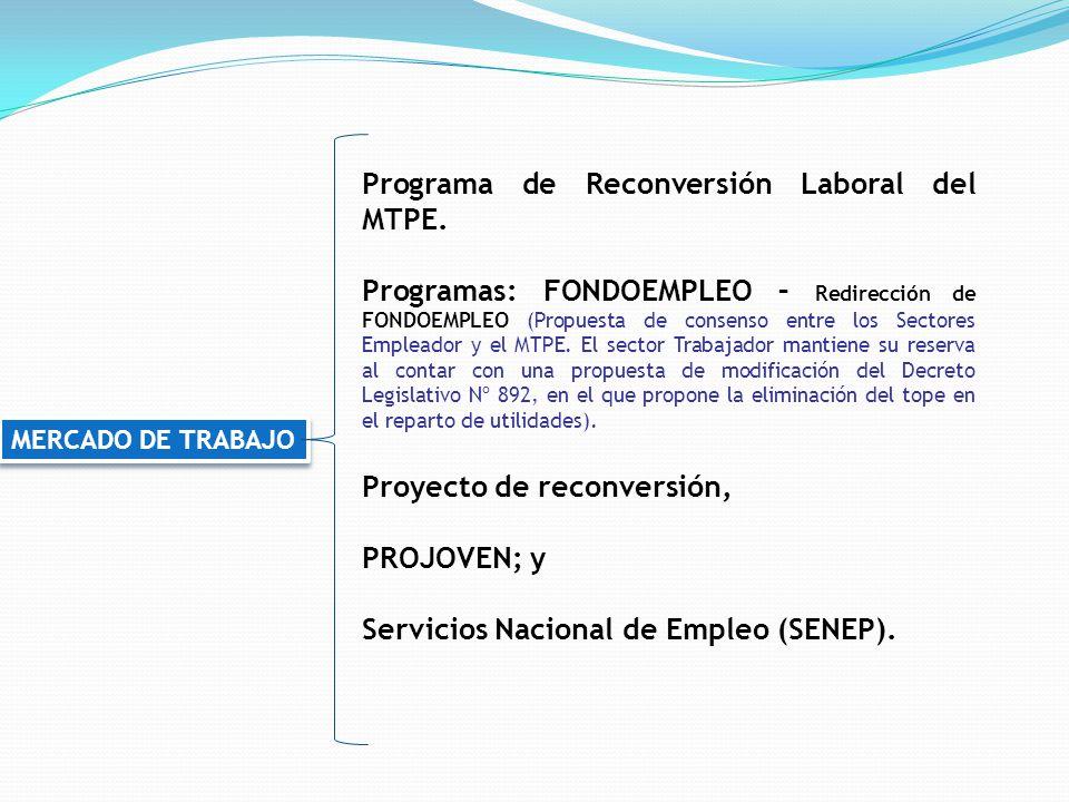 Programa de Reconversión Laboral del MTPE.