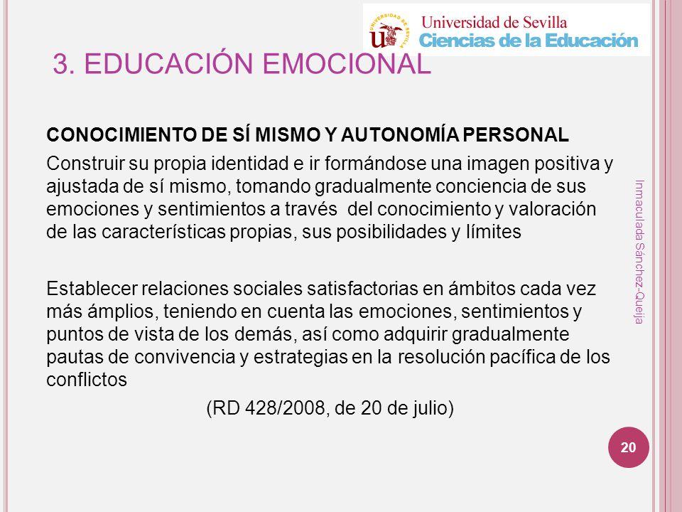3. EDUCACIÓN EMOCIONAL