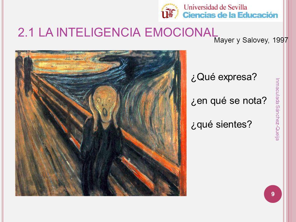 2.1 LA INTELIGENCIA EMOCIONAL