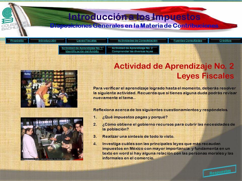 Introducción a los Impuestos Disposiciones Generales en la Materia de Contribuciones