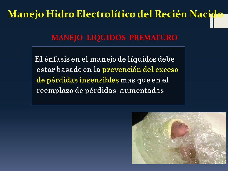 Manejo Hidro Electrolítico del Recién Nacido