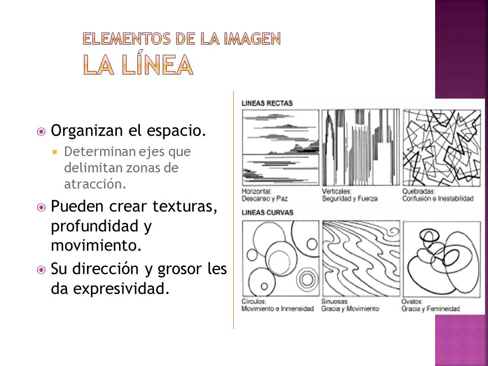 Elementos de la imagen La línea