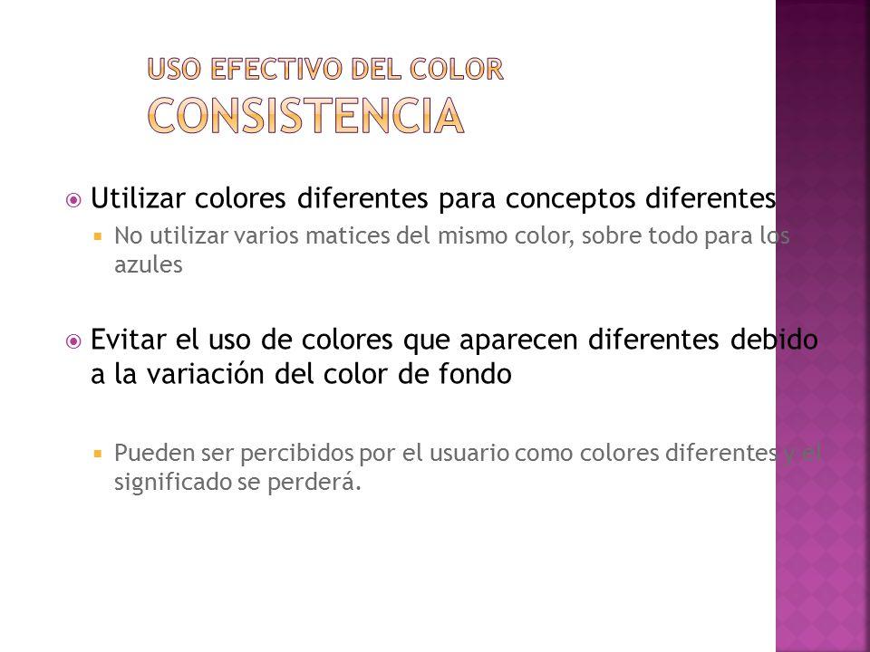 Uso efectivo del color Consistencia