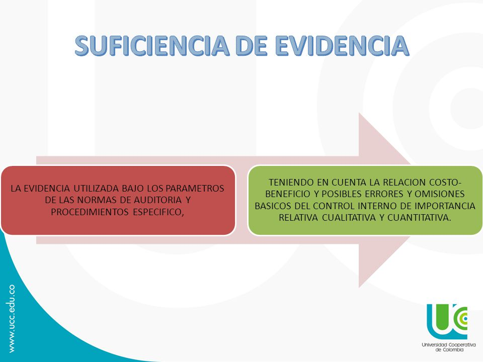 SUFICIENCIA DE EVIDENCIA