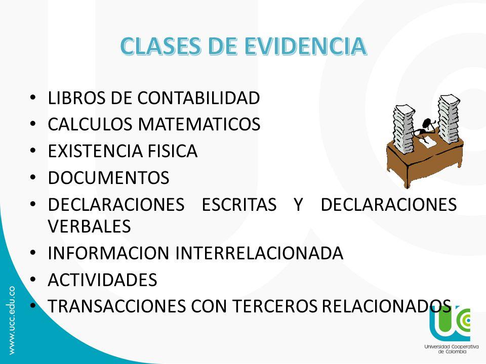 CLASES DE EVIDENCIA LIBROS DE CONTABILIDAD CALCULOS MATEMATICOS