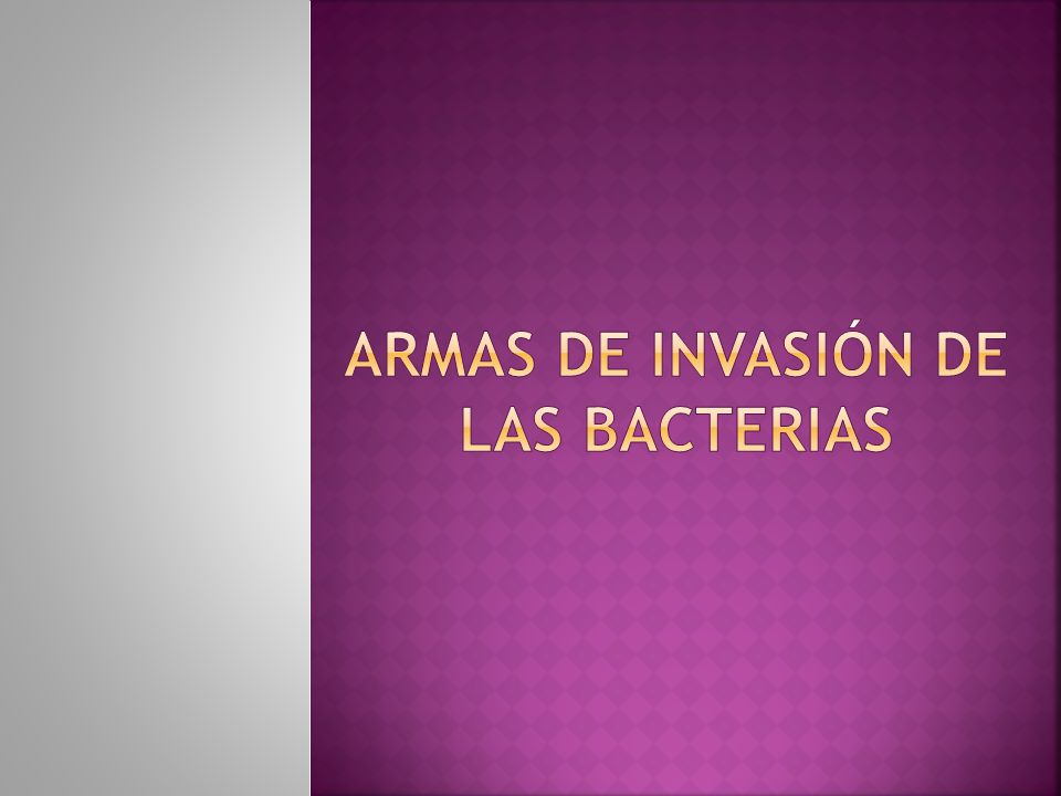 ARMAS DE INVASIÓN DE LAS BACTERIAS