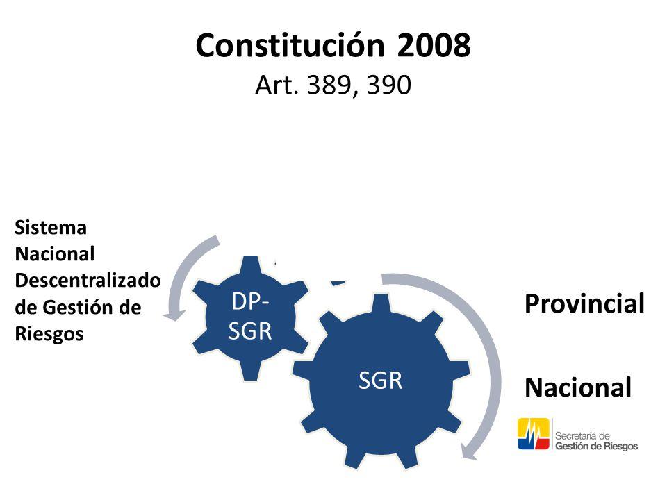 Constitución 2008 Art. 389, 390 Local Provincial Nacional Sistema