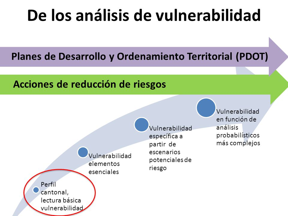 De los análisis de vulnerabilidad