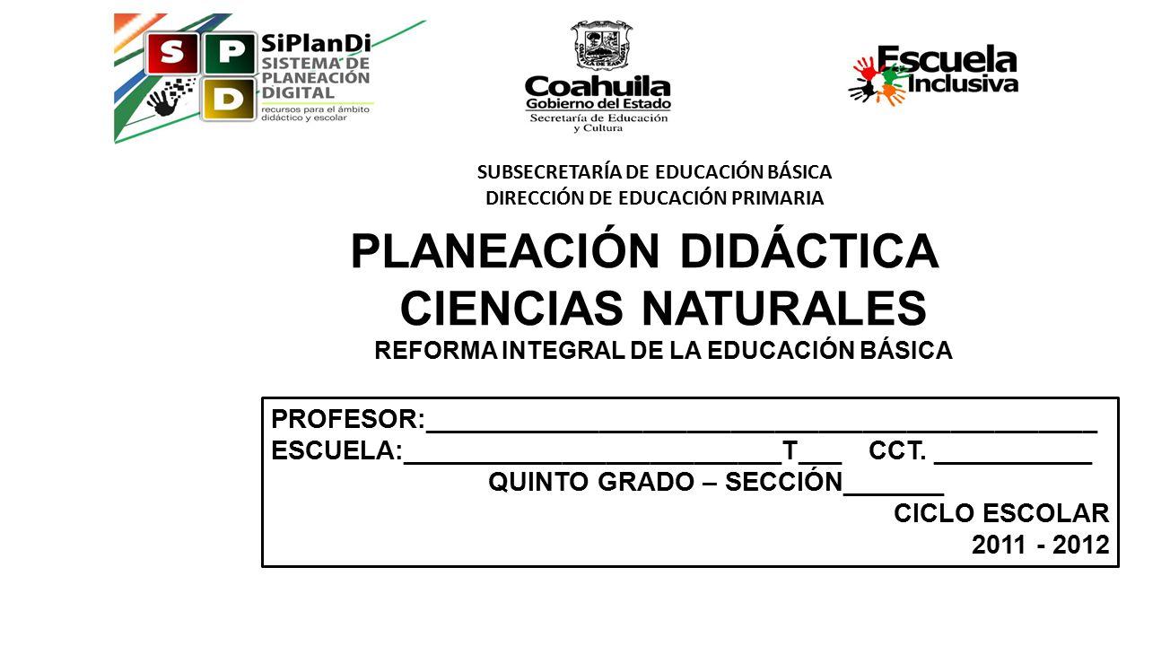 PLANEACIÓN DIDÁCTICA CIENCIAS NATURALES