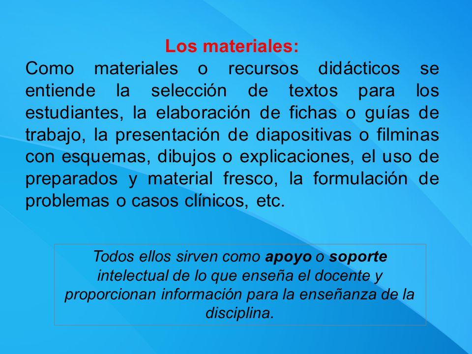Los materiales: