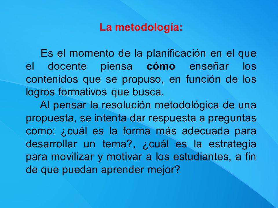 La metodología: