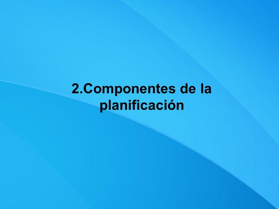 2.Componentes de la planificación