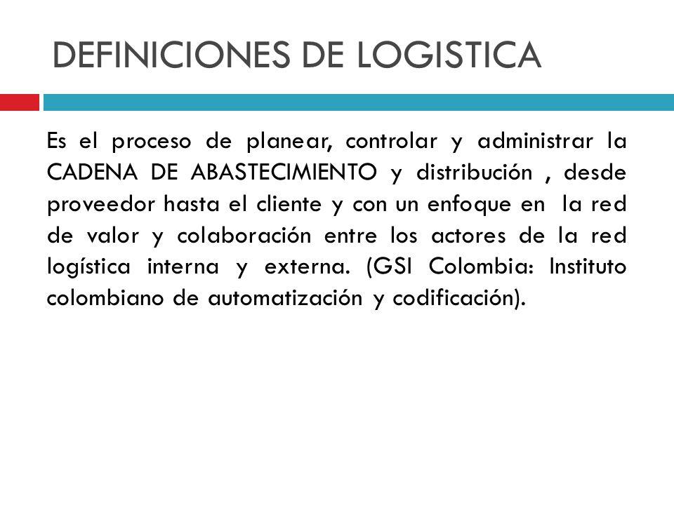 DEFINICIONES DE LOGISTICA