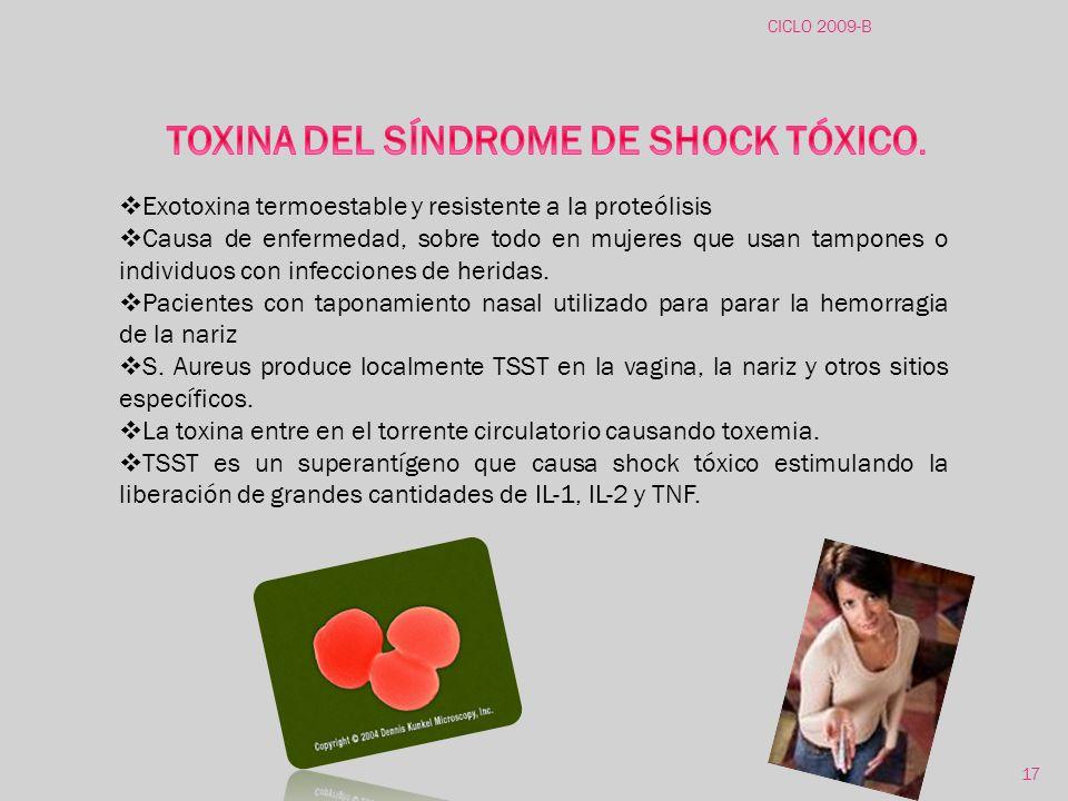 TOXINA DEL SÍNDROME DE SHOCK TÓXICO.