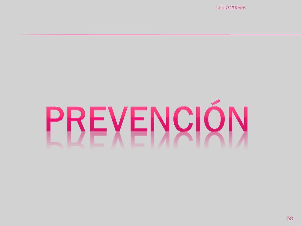 CICLO 2009-B prevención