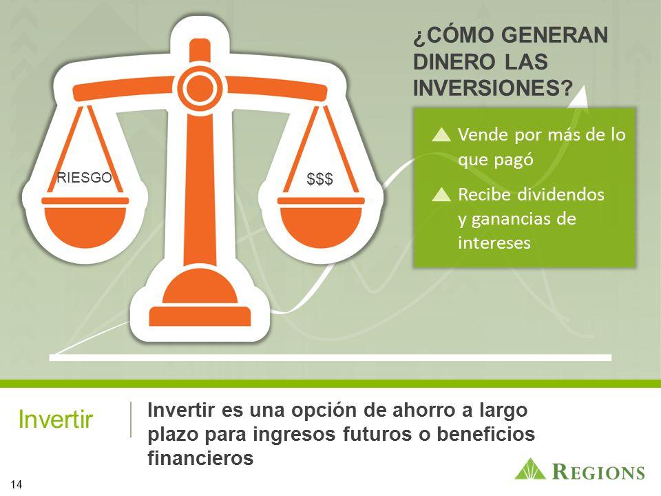 Invertir ¿CÓMO GENERAN DINERO LAS INVERSIONES
