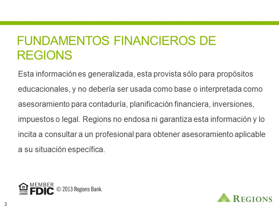 FUNDAMENTOS FINANCIEROS DE REGIONS
