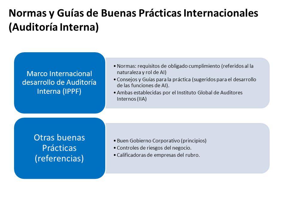 Normas y Guías de Buenas Prácticas Internacionales (Auditoría Interna)