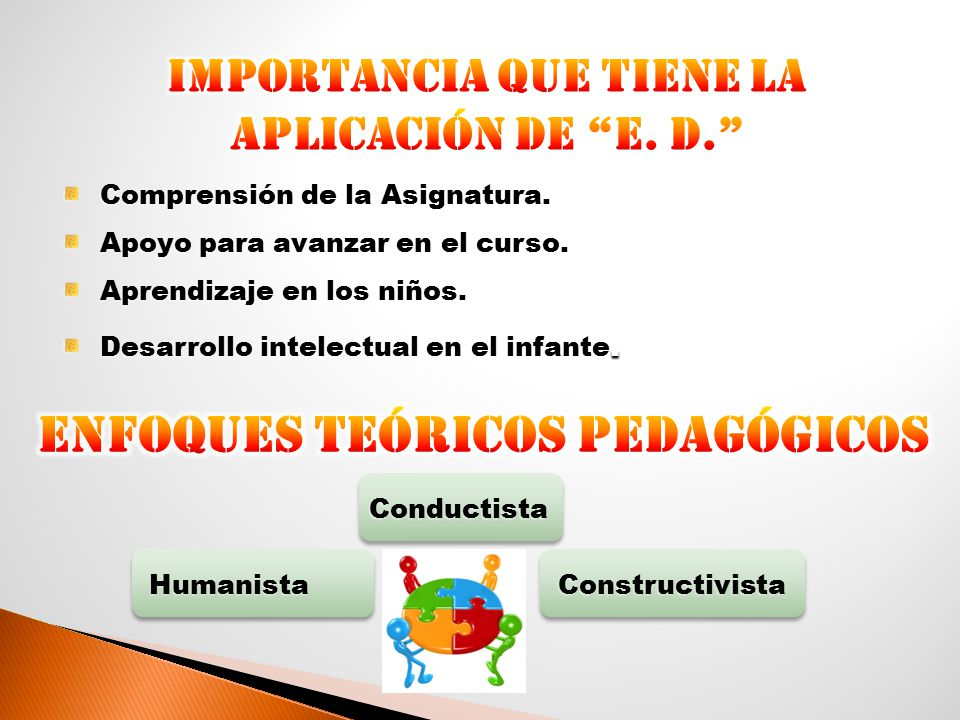 Enfoques Teóricos Pedagógicos