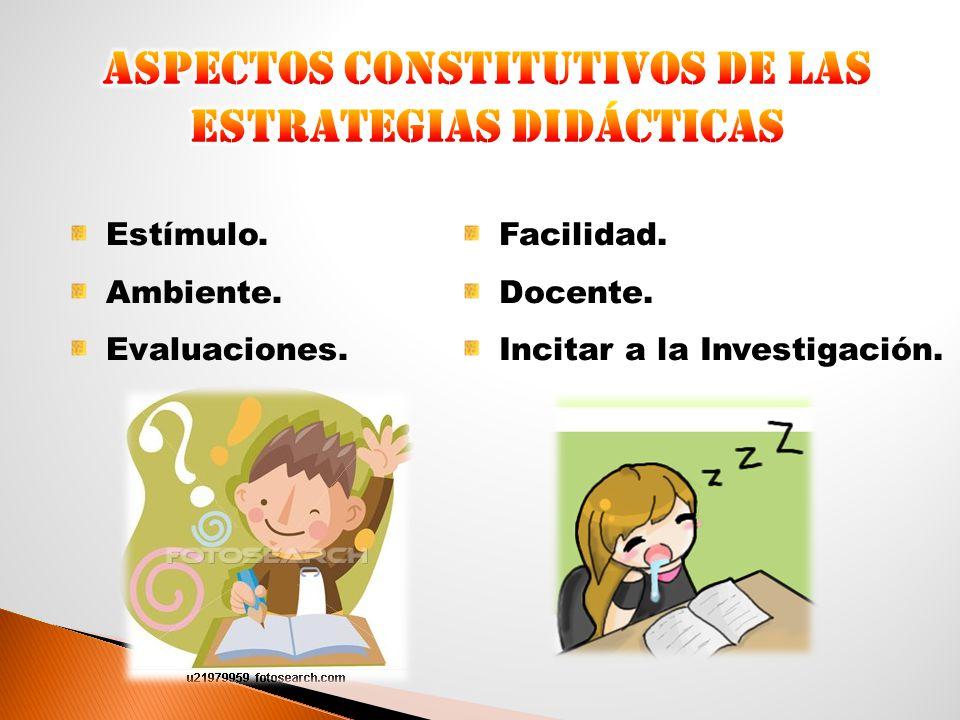 Aspectos constitutivos de las estrategias didácticas