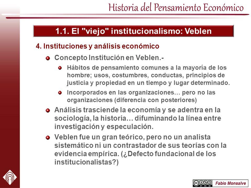 4. Instituciones y análisis económico