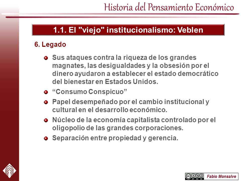 1.1. El viejo institucionalismo: Veblen