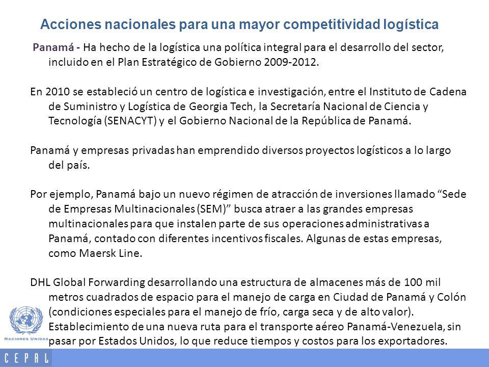 Acciones nacionales para una mayor competitividad logística