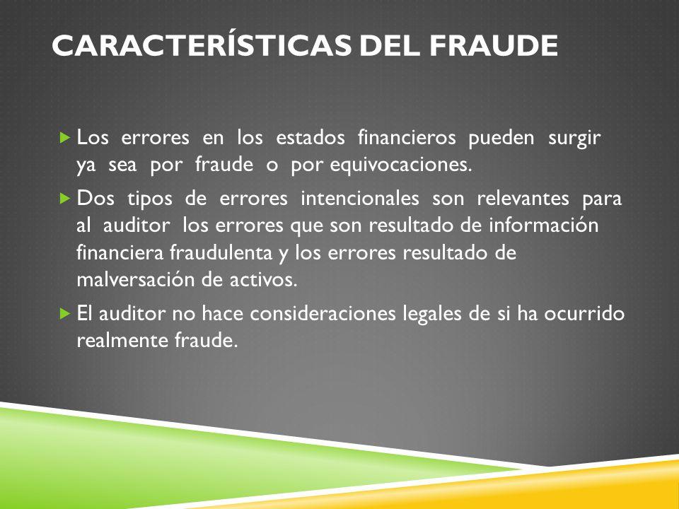 Características del fraude