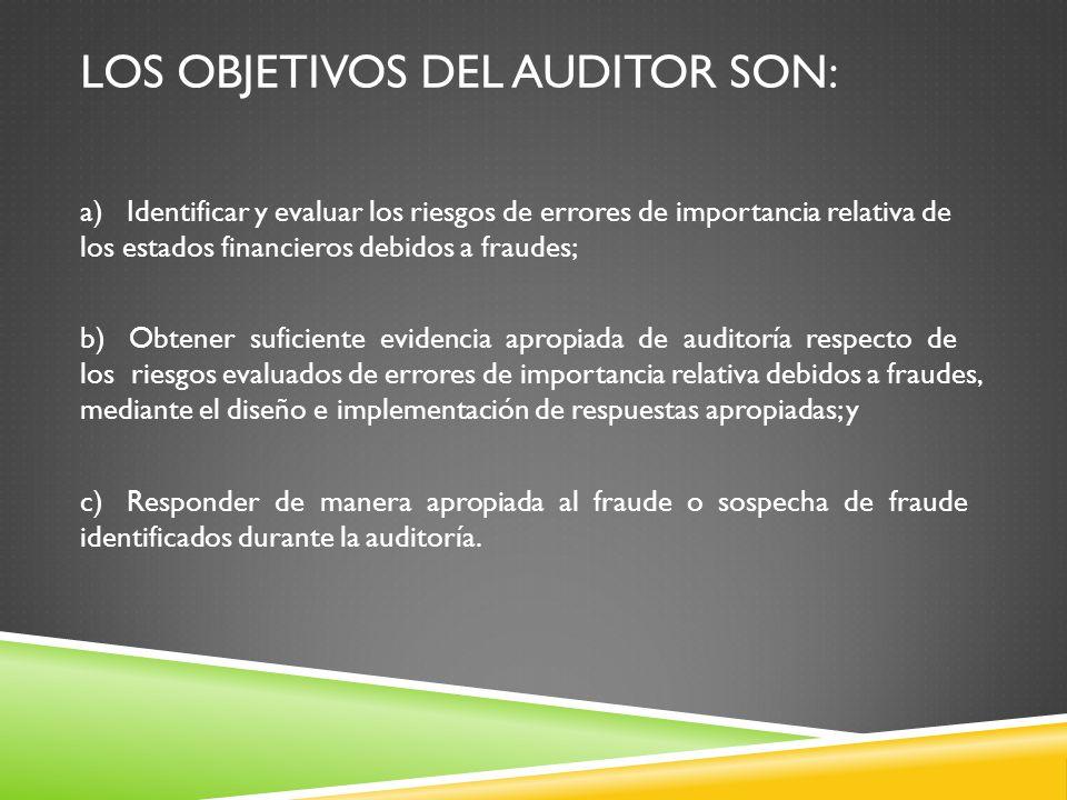 Los objetivos del auditor son: