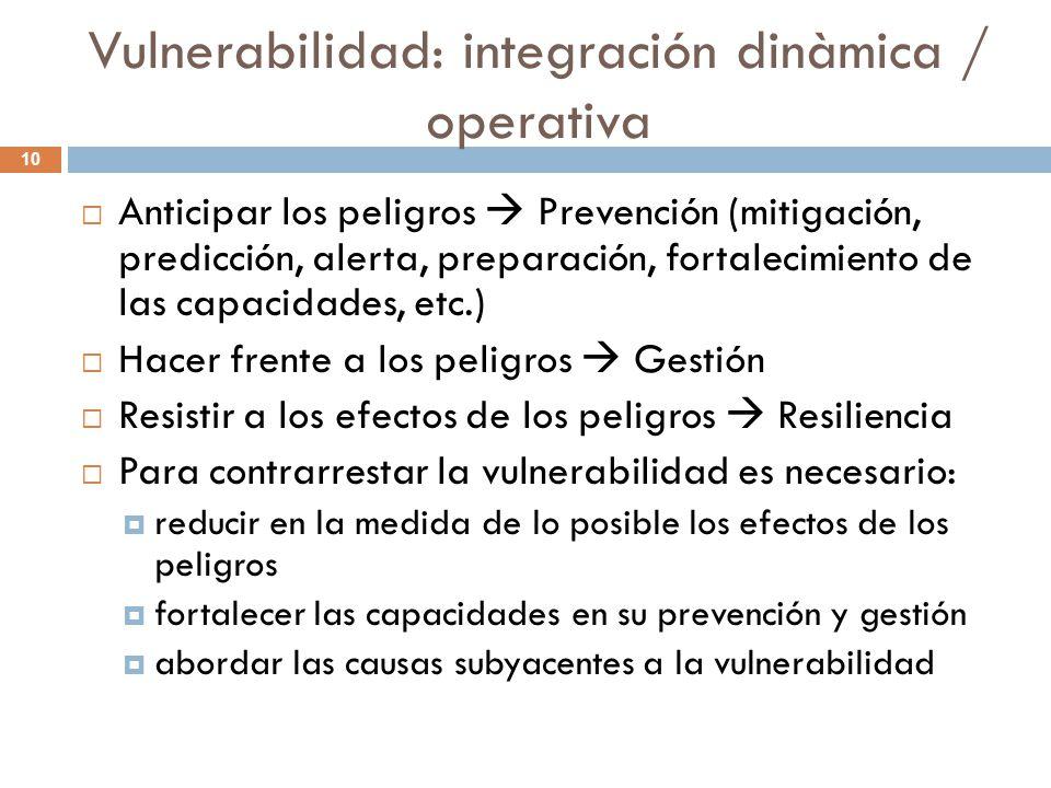 Vulnerabilidad: integración dinàmica / operativa