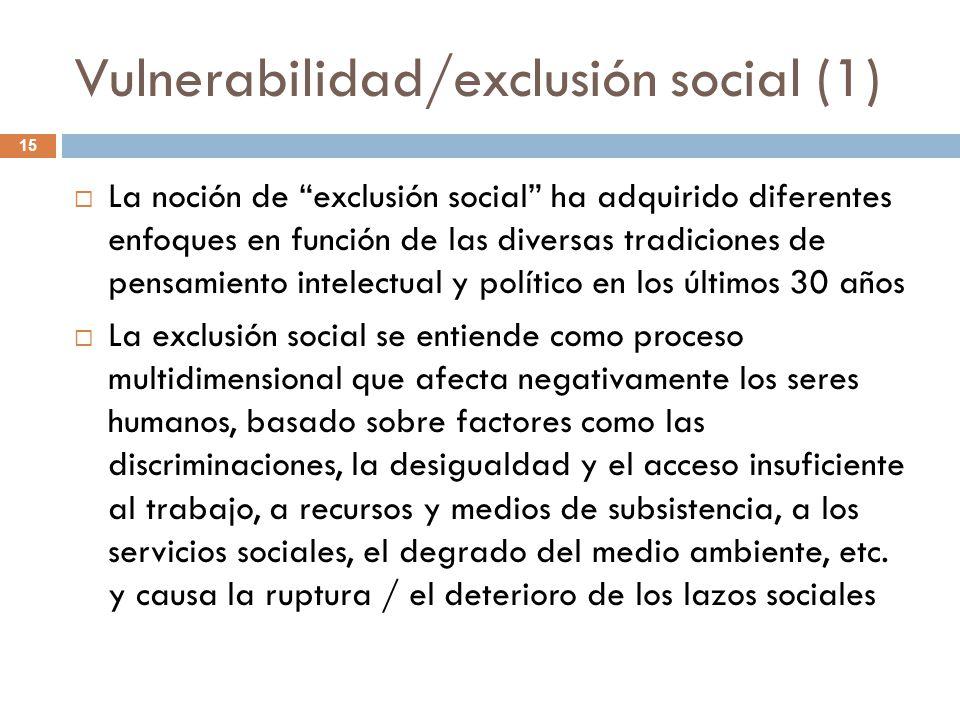 Vulnerabilidad/exclusión social (1)