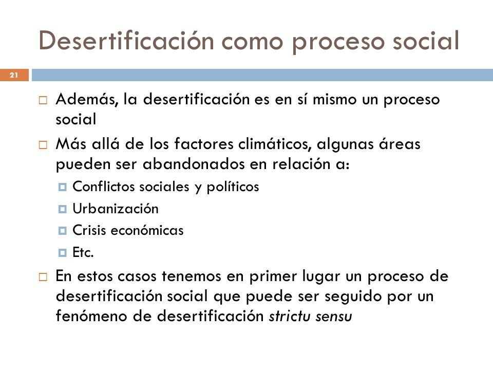 Desertificación como proceso social