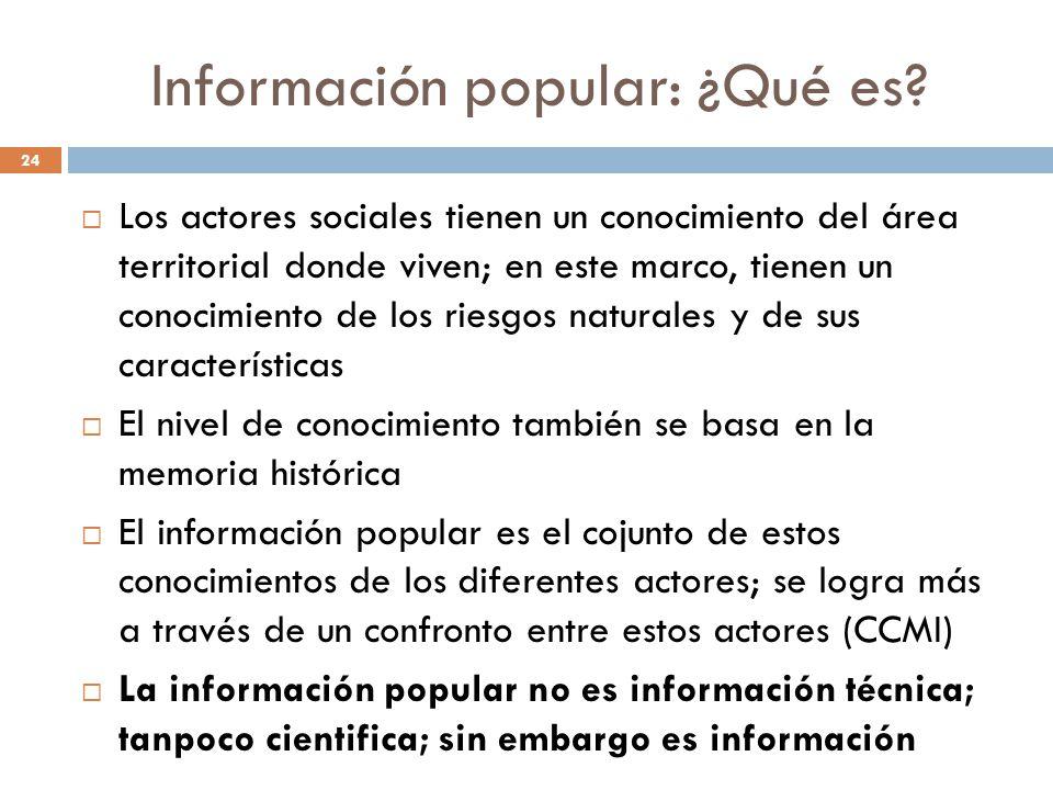 Información popular: ¿Qué es