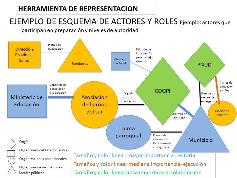 Figura 30: Organigrama de actores y acciones por su rol estratégico desde el punto de vista institucional – Provincia de Chimborazo
