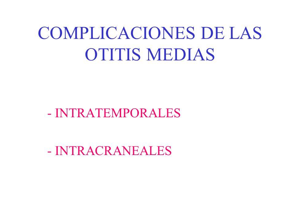COMPLICACIONES DE LAS OTITIS MEDIAS