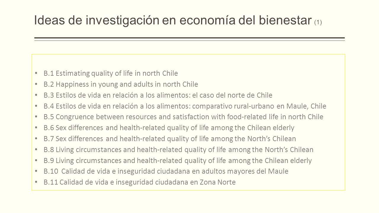 Ideas de investigación en economía del bienestar (1)