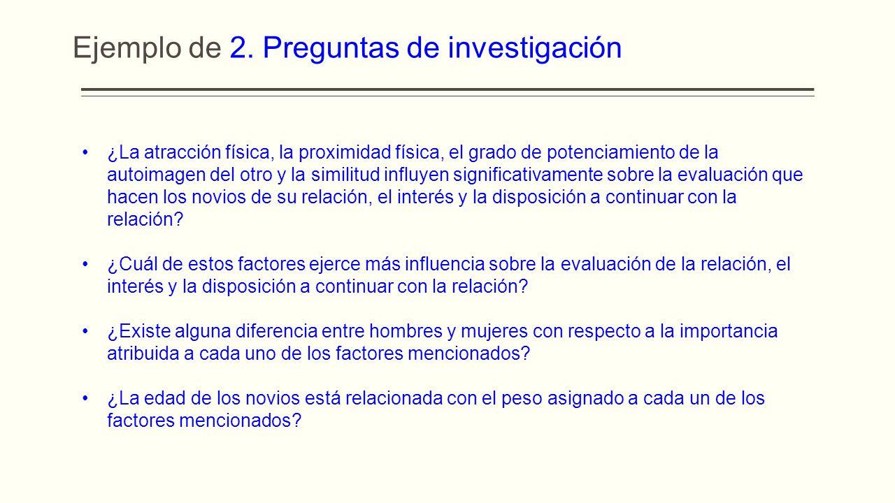 Ejemplo de 2. Preguntas de investigación